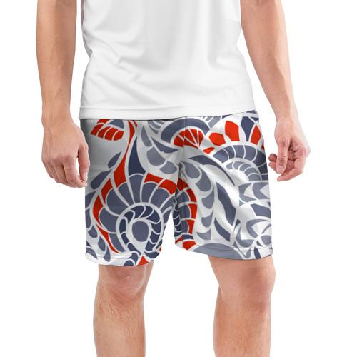 Мужские шорты 3D спортивные  Фото 03, Цветочный узор