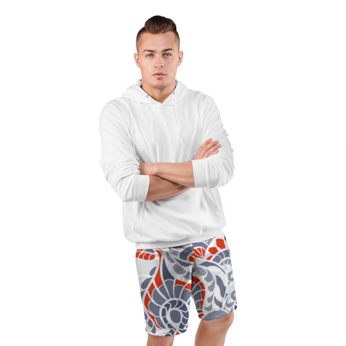 Мужские шорты 3D спортивные  Фото 05, Цветочный узор