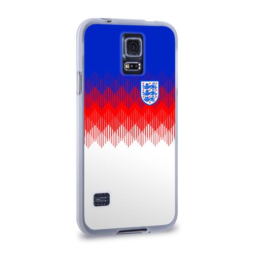 Чехол для Samsung Galaxy S5 силиконовый  Фото 02, Англия тренировочная форма ЧМ-2018