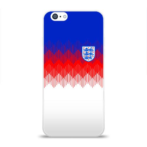 Чехол для Apple iPhone 6 силиконовый глянцевый  Фото 01, Англия тренировочная форма ЧМ-2018