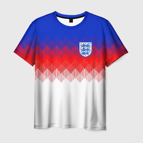 Мужская футболка 3D Англия тренировочная форма ЧМ-2018