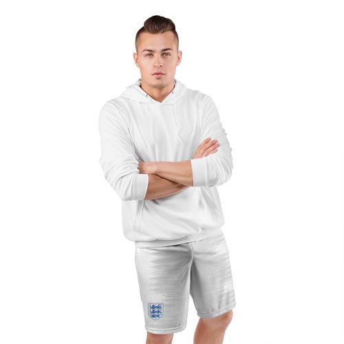 Мужские шорты 3D спортивные  Фото 05, Англия - гостевая форма  - ЧМ-2018