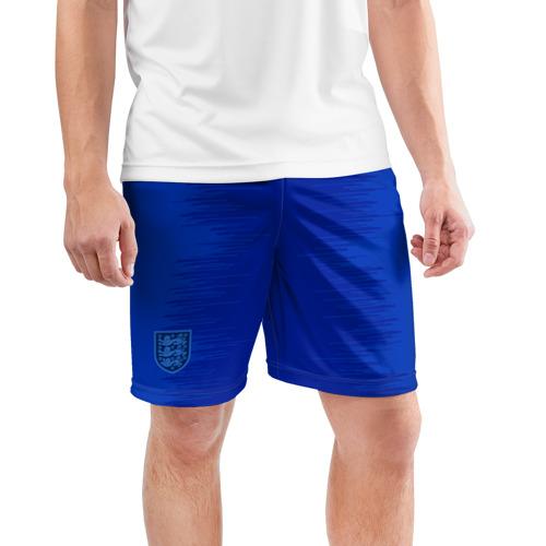 Мужские шорты 3D спортивные  Фото 03, Англия - домашняя форма - ЧМ-2018