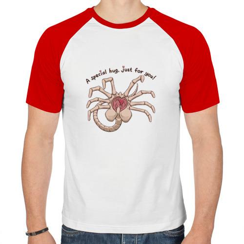 Мужская футболка реглан  Фото 01,  Facehugger