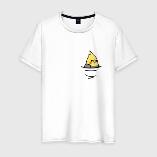 Мужская футболка хлопок Попугай в кармане Фото 01