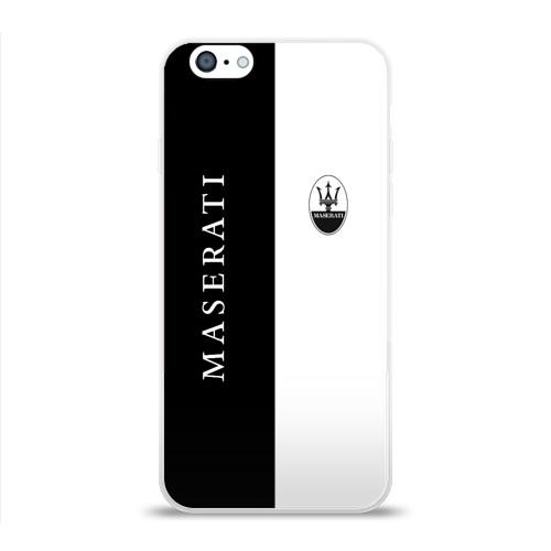 Чехол для Apple iPhone 6 силиконовый глянцевый  Фото 01, Maserati