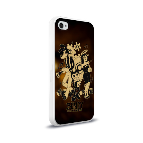 Чехол для Apple iPhone 4/4S силиконовый глянцевый Bendy and the ink machine (16) Фото 01