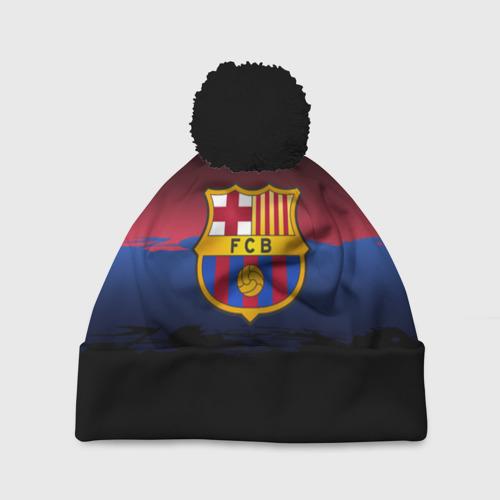 Шапка 3D c помпоном Barcelona FC