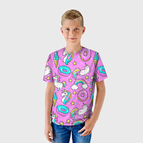 Детская футболка 3D  Фото 01, Котики и Единороги
