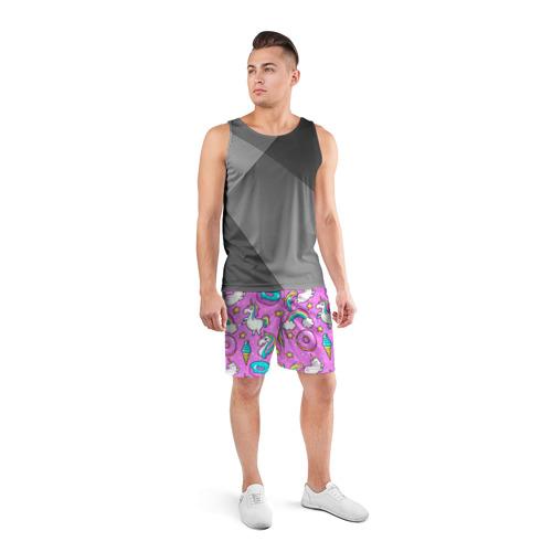 Мужские шорты 3D спортивные  Фото 04, Котики и Единороги