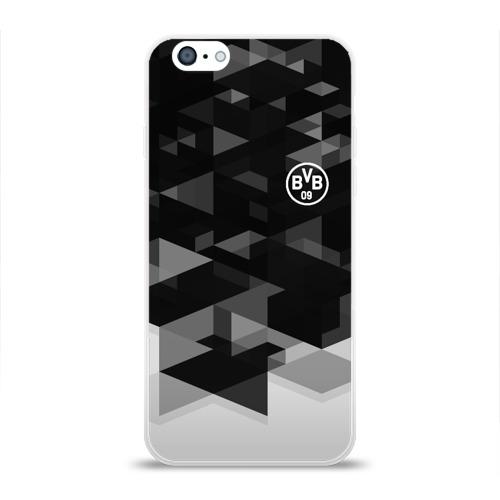 Чехол для Apple iPhone 6 силиконовый глянцевый  Фото 01, Borussia Geometry Sport