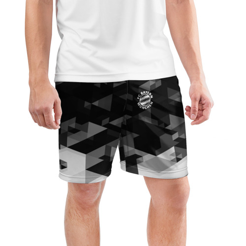 Мужские шорты 3D спортивные  Фото 03, Bayern Munchen Geometry Sport