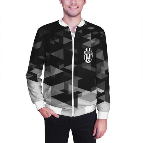 Мужской бомбер 3D  Фото 03, Juventus Geometry Sport