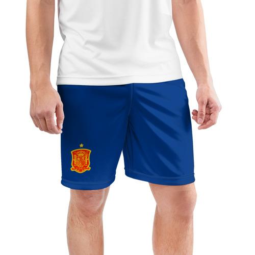 Мужские шорты 3D спортивные  Фото 03, Испания домашняя форма ЧМ 2018