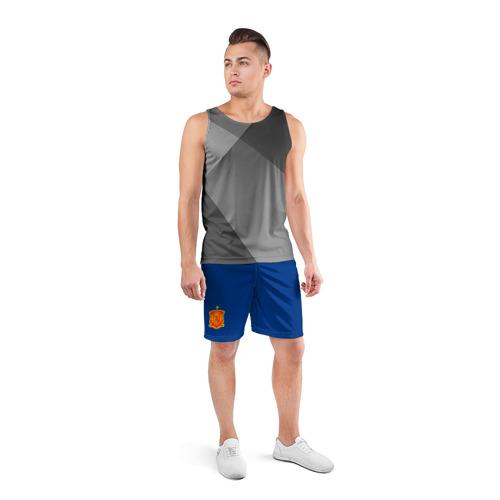 Мужские шорты 3D спортивные  Фото 04, Испания домашняя форма ЧМ 2018