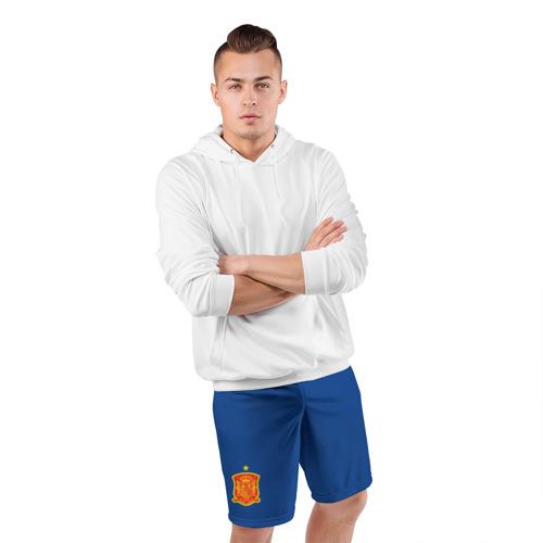 Мужские шорты 3D спортивные  Фото 05, Испания домашняя форма ЧМ 2018