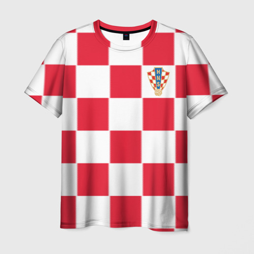 Мужская футболка 3D  Фото 03, Хорватия домашняя форма 2018