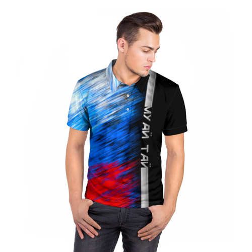 Мужская рубашка поло 3D  Фото 05, Муай Тай