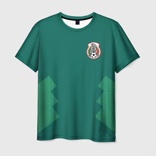Мужская футболка 3D Домашняя форма сборной Мексики