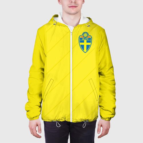 Мужская куртка 3D  Фото 04, Швеция домашняя форма ЧМ 2018