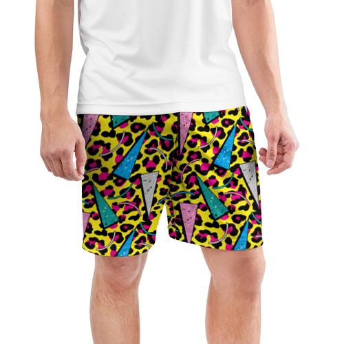 Мужские шорты 3D спортивные  Фото 03, 80 Leopard