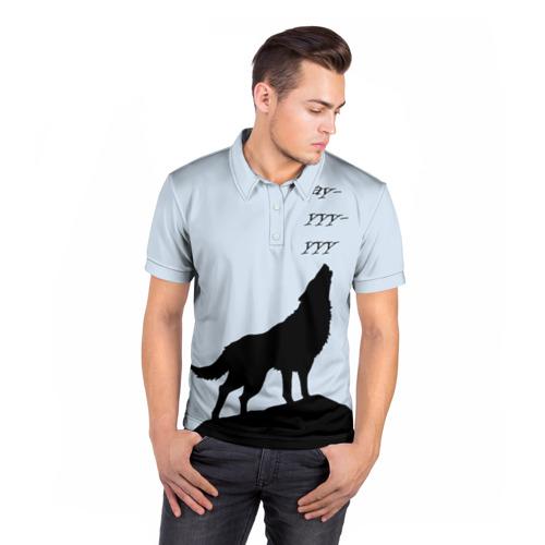 Мужская рубашка поло 3D  Фото 05, WOLF