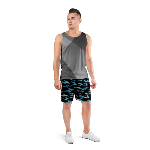 Мужские шорты 3D спортивные  Фото 04, Камуфляж