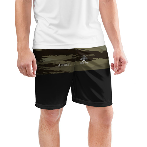 Мужские шорты 3D спортивные  Фото 03, Камуфляж ВВС РФ
