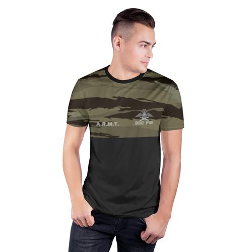 Мужская футболка 3D спортивная  Фото 03, Камуфляж ВВС РФ