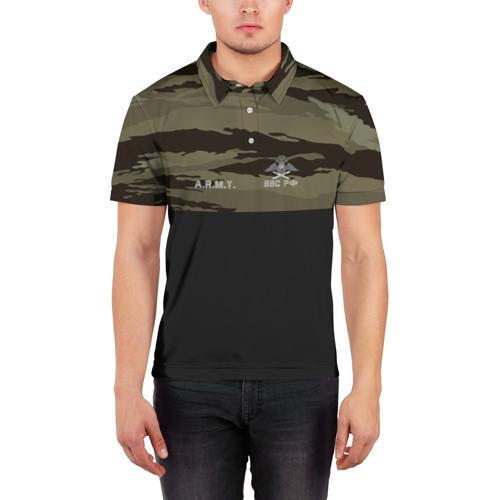 Мужская рубашка поло 3D  Фото 03, Камуфляж ВВС РФ
