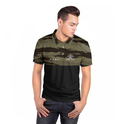 Мужская рубашка поло 3D  Фото 05, Камуфляж ВВС РФ