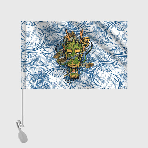 Флаг для автомобиля  Фото 02, Огненный Дракон