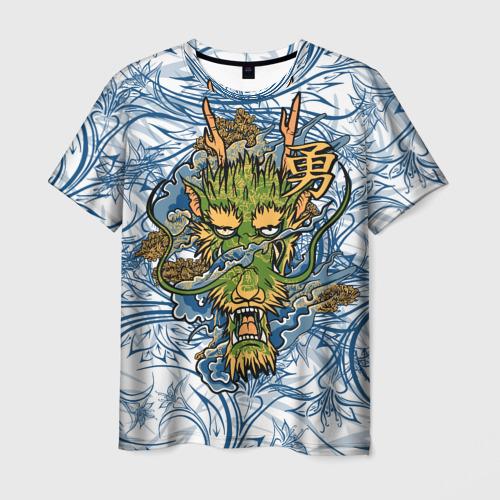 Мужская футболка 3D  Фото 03, Огненный Дракон