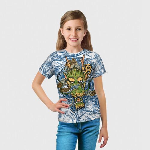 Детская футболка 3D  Фото 03, Огненный Дракон