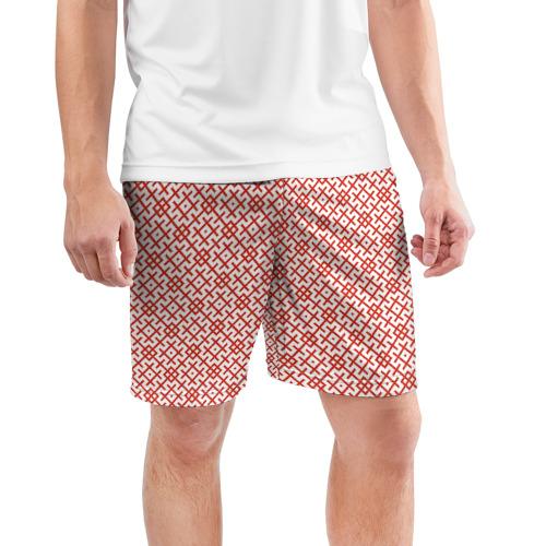 Мужские шорты 3D спортивные  Фото 03, Звезда Креста (Вышивка)