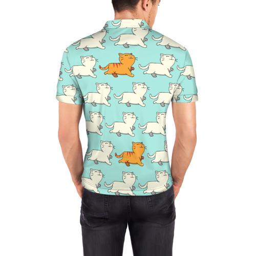 Мужская рубашка поло 3D  Фото 04, Рыжий котик