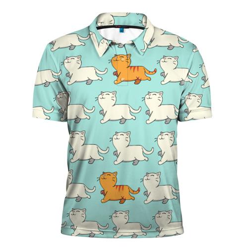 Мужская рубашка поло 3D  Фото 01, Рыжий котик