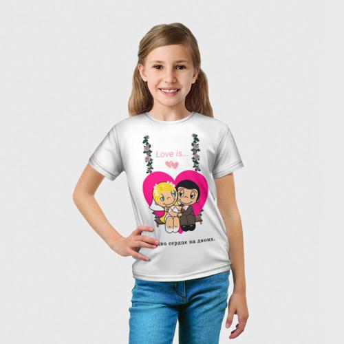 Детская футболка 3D  Фото 03, Love is...