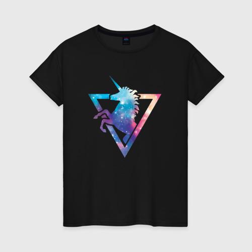 Женская футболка хлопок Единорог Фото 01