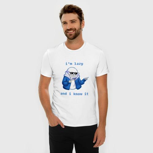 Мужская футболка премиум  Фото 03, Sans