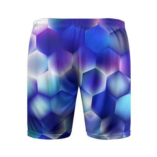 Мужские шорты 3D спортивные  Фото 02, Синяя чешуя змеи