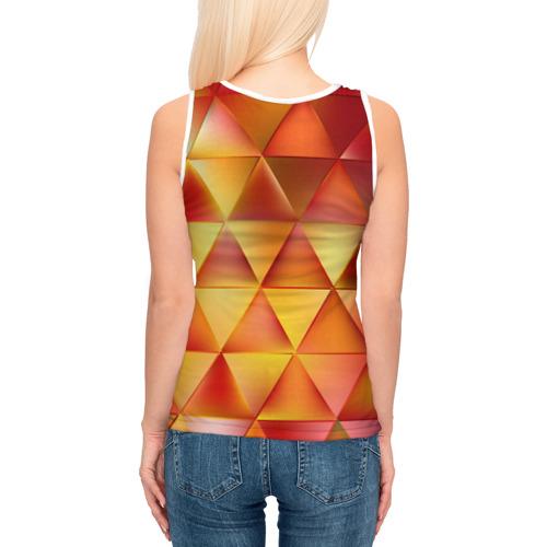 Женская майка 3D  Фото 04, Огненные треугольники