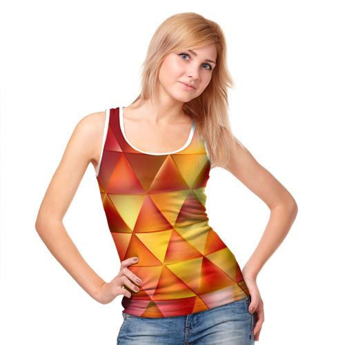 Женская майка 3D  Фото 05, Огненные треугольники