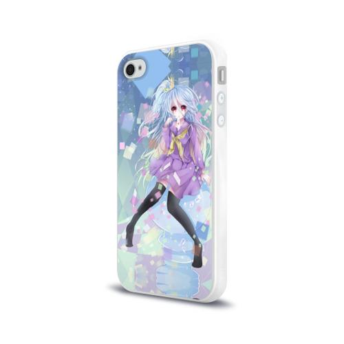 Чехол для Apple iPhone 4/4S силиконовый глянцевый  Фото 03,  No Game No Life_6
