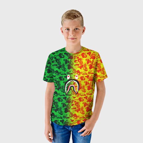 Детская футболка 3D  Фото 01, Monkey GreenYelow