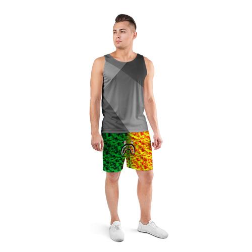 Мужские шорты 3D спортивные  Фото 04, Monkey GreenYelow