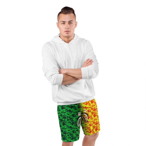 Мужские шорты 3D спортивные  Фото 05, Monkey GreenYelow