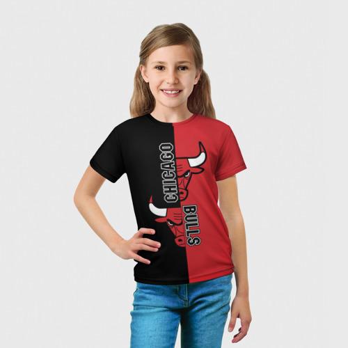 Детская футболка 3D  Фото 03, Чикаго Буллз