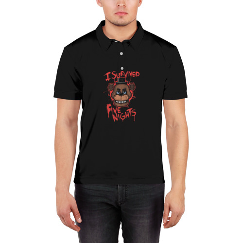 Мужская рубашка поло 3D  Фото 03, Five Nights At Freddy's