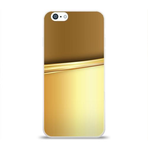 Чехол для Apple iPhone 6 силиконовый глянцевый  Фото 01, GOLD #3